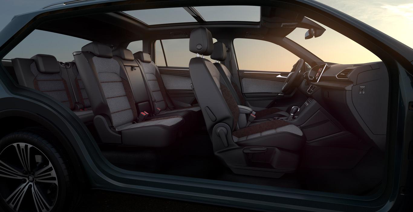Der Tarraco lässt sich zum Siebensitzer ausbauen. Kleines Manko dabei: Wie bei allen SUV mit dieser Eigenschaft, wir auch hier der Kofferraum dadurch entsprechend kleiner.