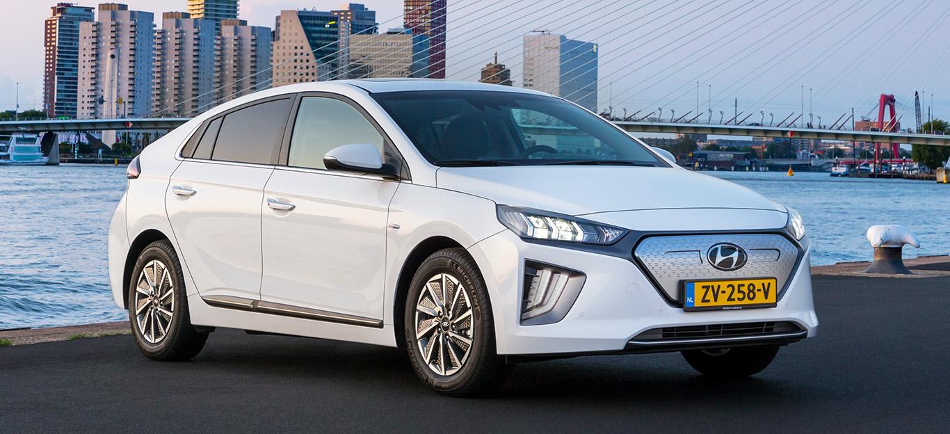Hyundai Ioniq Elektro 2019, weiß, Frontansicht