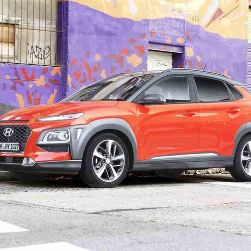 Hyundai Kona rot Seitenansicht