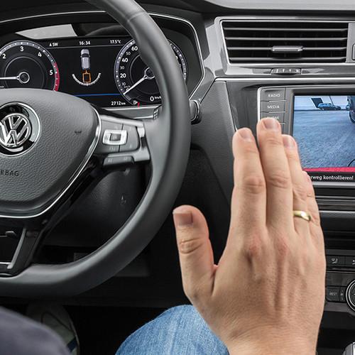 VW Tiguan, Rückfahrkamera und Rangier-Anzeige