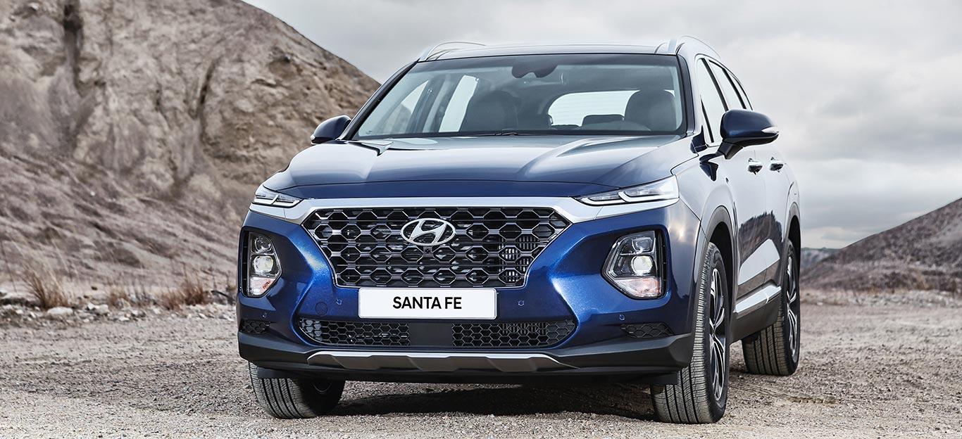 Hyundai Santa Fe: Frontansicht, blau