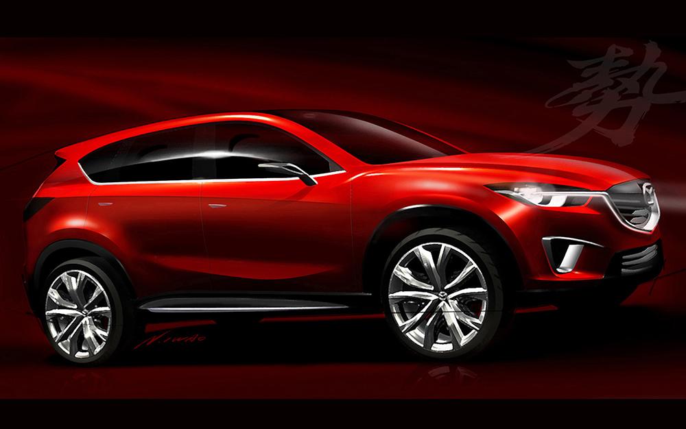 Der Mazda Minagi war als Modellstudie für das spätere CX-5 SUV auf dem Genfer Autosalon 2011 vorgestellt worden.