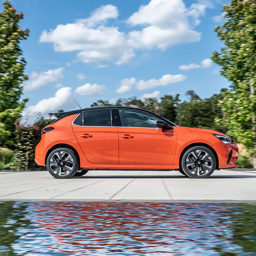 Opel Corsa-e, Seitenansicht