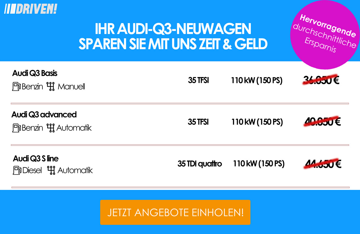 Werbung Q3 Audi Konfig