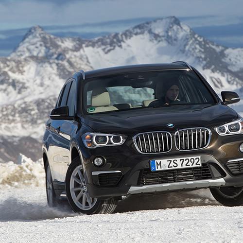 BMW X1, Frontansicht, fahrend, braun