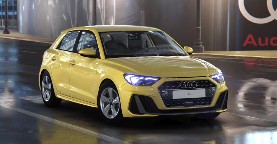 Unser persönlicher Audi A1 Sportback setzt nicht nur wegen seines grell-flippiges Gelbs deutliche Akzente.