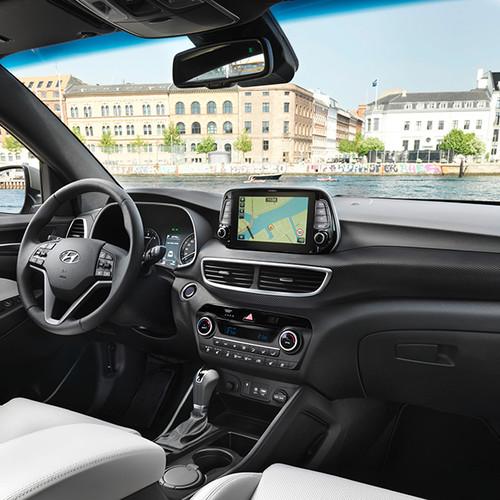 Hyundai Tucson, Innenansicht, Cockpit, seitlich