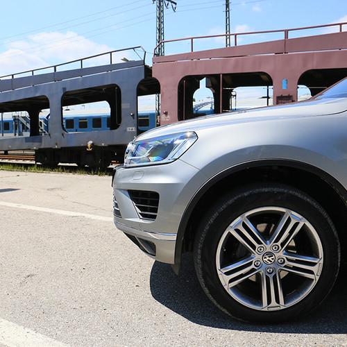 Karosseriedetail des VW Touareg