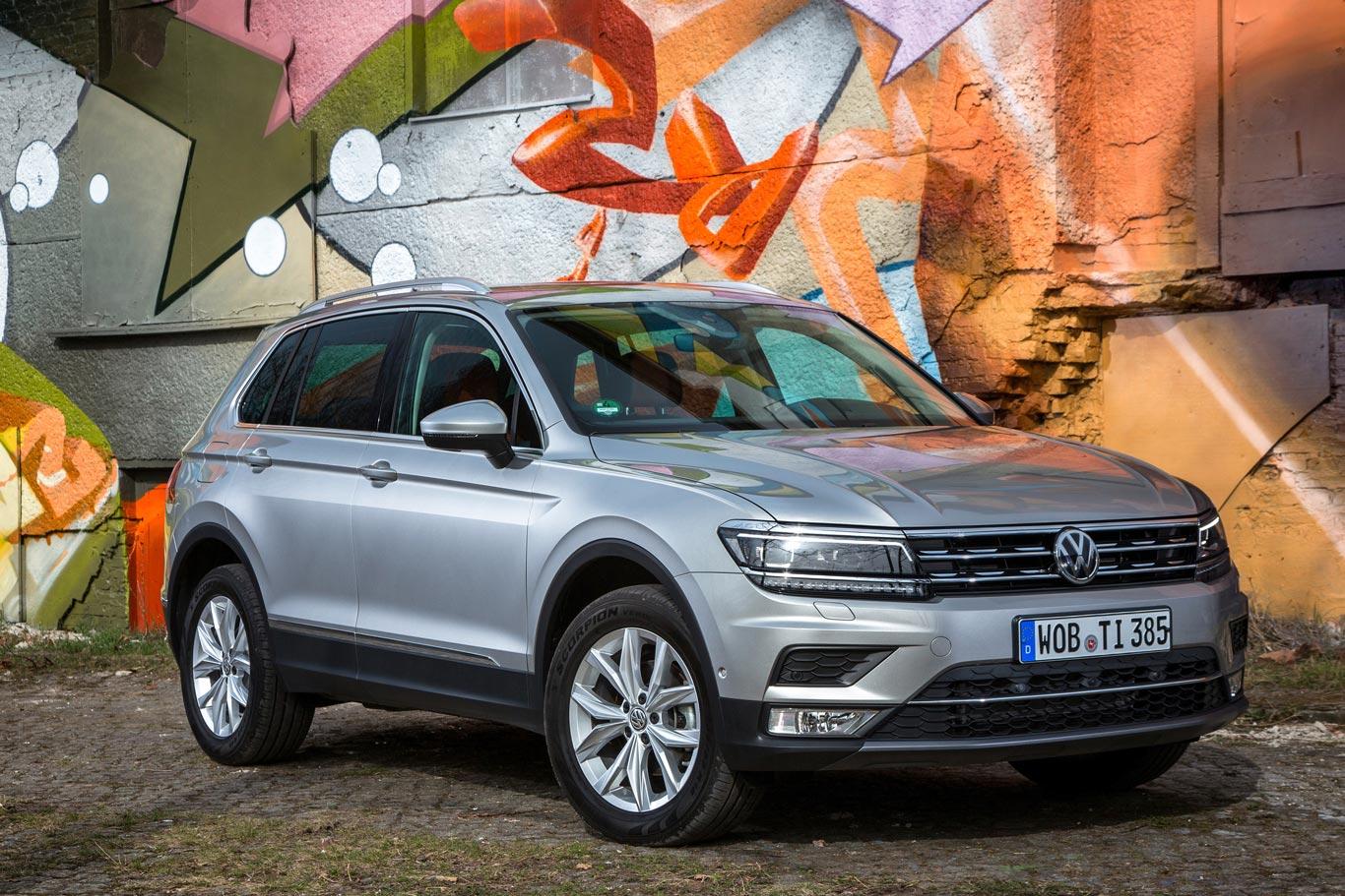 Das Facelift des VW Tiguan wird mit Spannung erwartet. Das Bild zeigt noch das aktuelle Vor-Facelift-Modell.