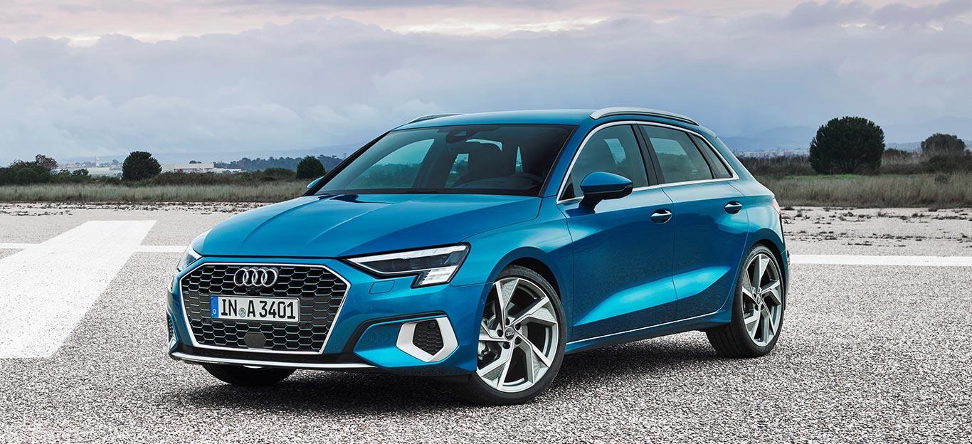 Der neue Audi A3 Sportback, hier in der Verbrenner-Version, wird auch in einer Hybrid-Version verfügbar sein.