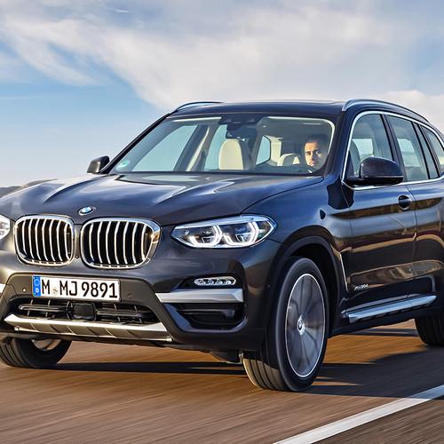 BMW X3 2018, Fahraufnahme, Frontansicht