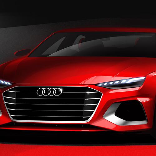 Audi A4, Facelift 2019, Skizze, Frontansicht