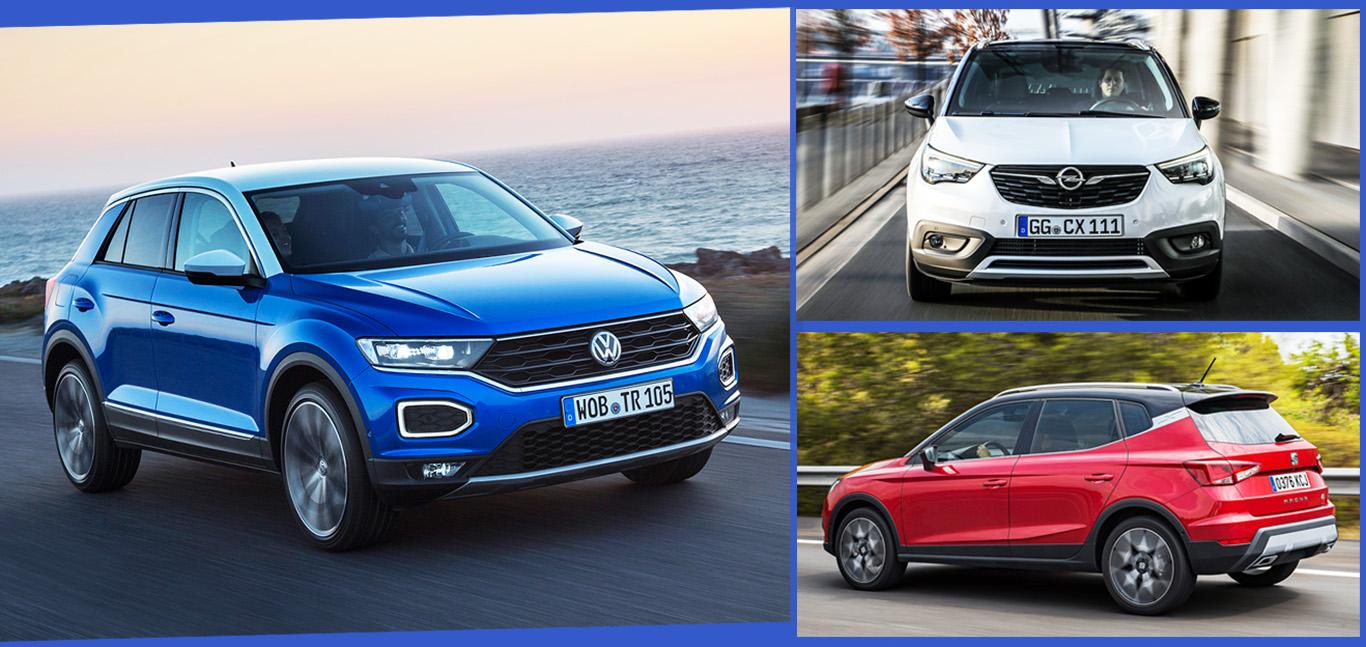 VW T-Roc, Opel Crossland X, Seat Arona