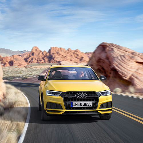 Frontansicht eines Audi Q3 S Line Competition