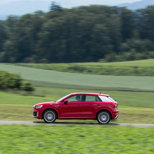 Seitenansicht des Audi Q2.