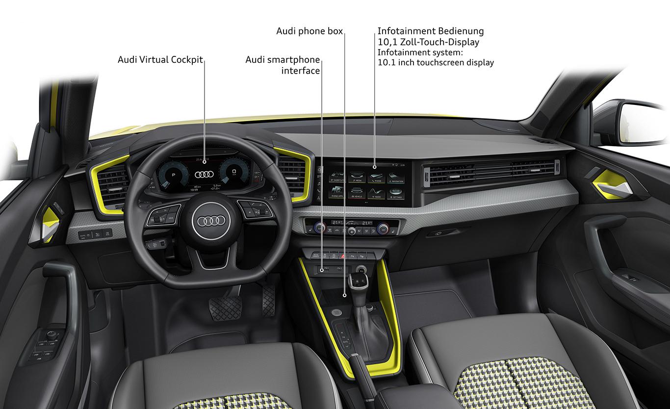 Foto: Die Instrumententafel im neuen Audi A1 Sportback präsentiert sich angenehm übersichtlich.