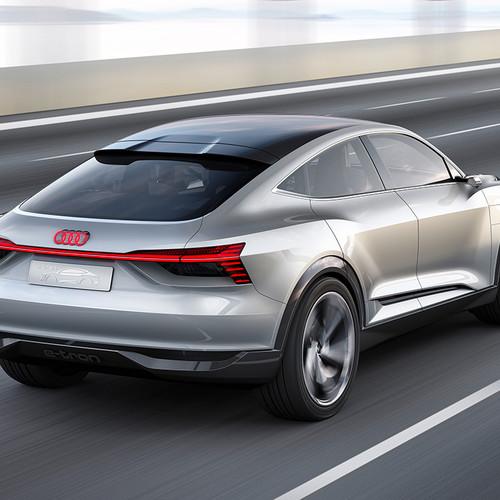 Audi e-tron Sportback Concept, Studie, Heckansicht