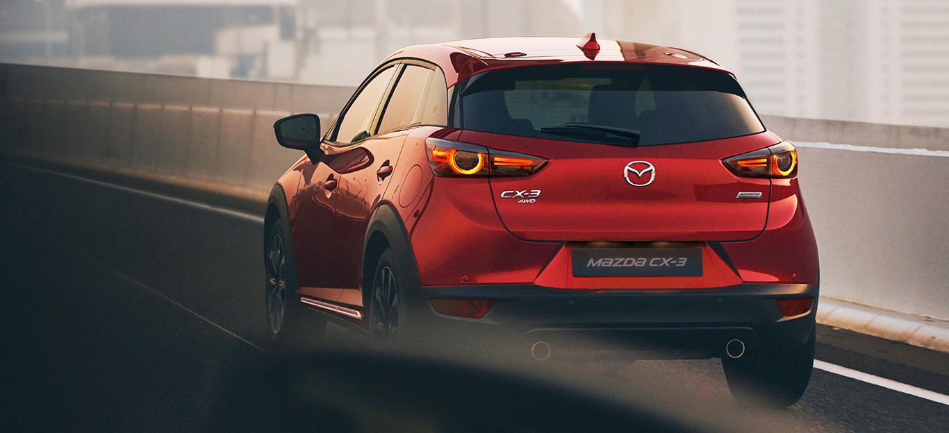 Mazda CX-3, Heckansicht, rot