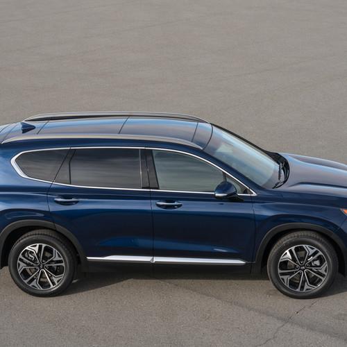 Hyundai Santa Fe 2018, blau, Vogelperspektive
