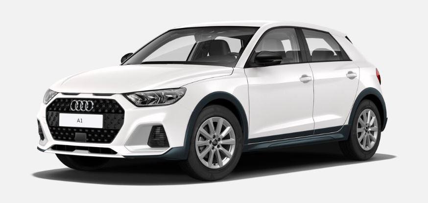 """Als """"nacktes"""" Basismodell bietet der Audi A1 citycarver schon ungewöhnlich viel fürs Auge. Hier in der kostenlosen Grundfarbe """"Cortina Weiß""""."""