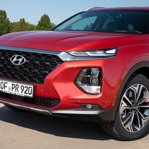 Hyundai Santa Fe 2018, rot, Frontansicht