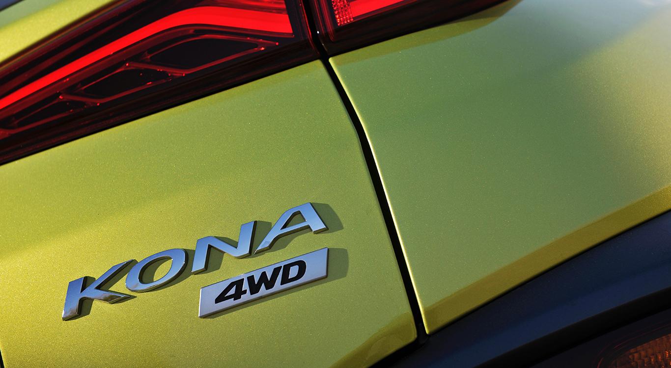 Den Hyundai Kona gibt es auf Wunsch auch mit Allradantrieb.