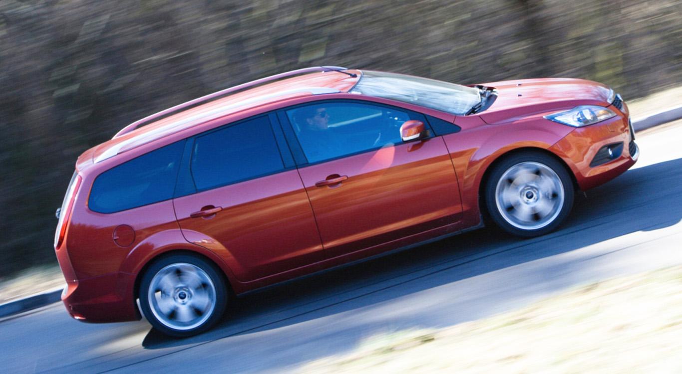 Beliebter Kompaktklasse-Kombi: Ford Focus Turnier der zweiten Generation, im Bild das Facelift-Modell von 2008.