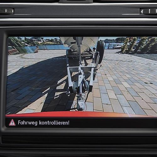 VW Tigian, Rückfahrkamera, Display, Nahaufnahme