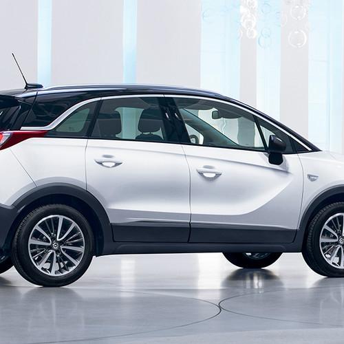 Opel Crossland X, Seitenansicht, stehend, weiß