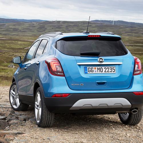 Opel Mokka X, blau, Heckansicht