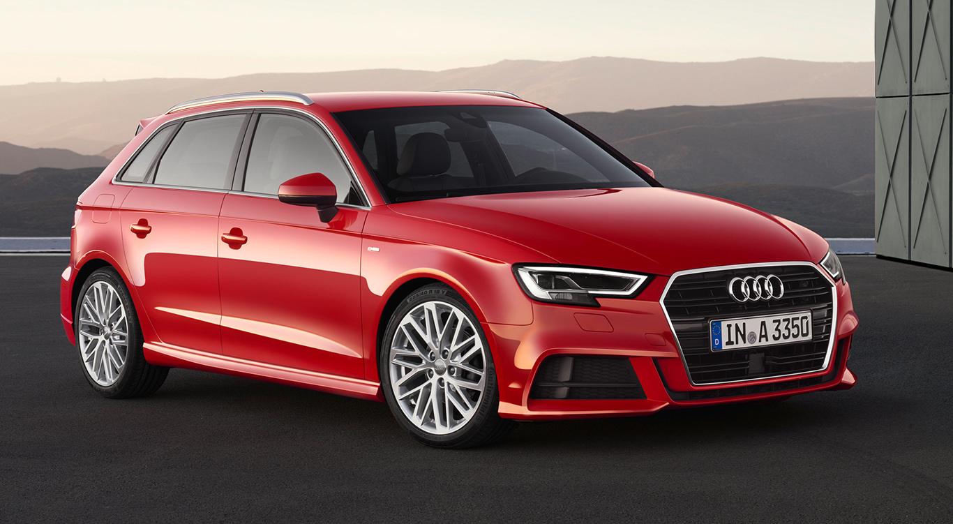 Audi A3 Sportback mit S line-Exterieur.