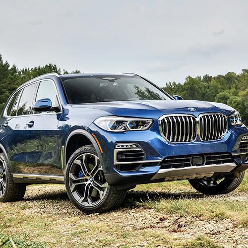 BMW X5 2018, Frontansicht, blau, stehend