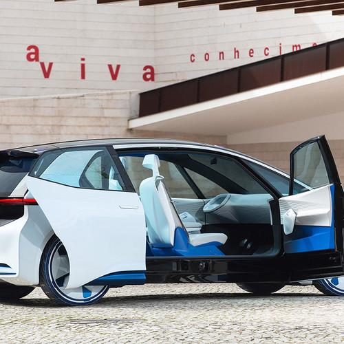 VW-Elektroauto, Studie ID NEO, Seitenansicht, offene Türen
