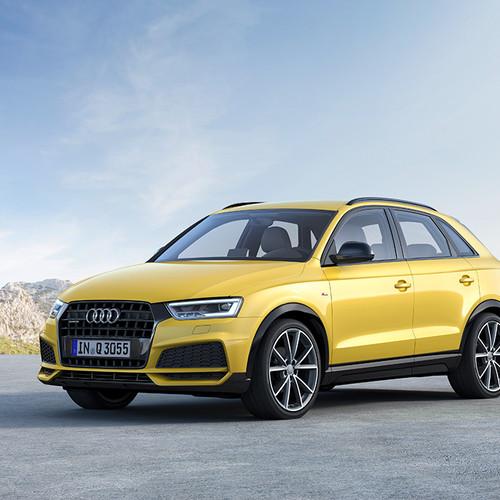 Seitenansicht eines Audi Q3 S Line Competition