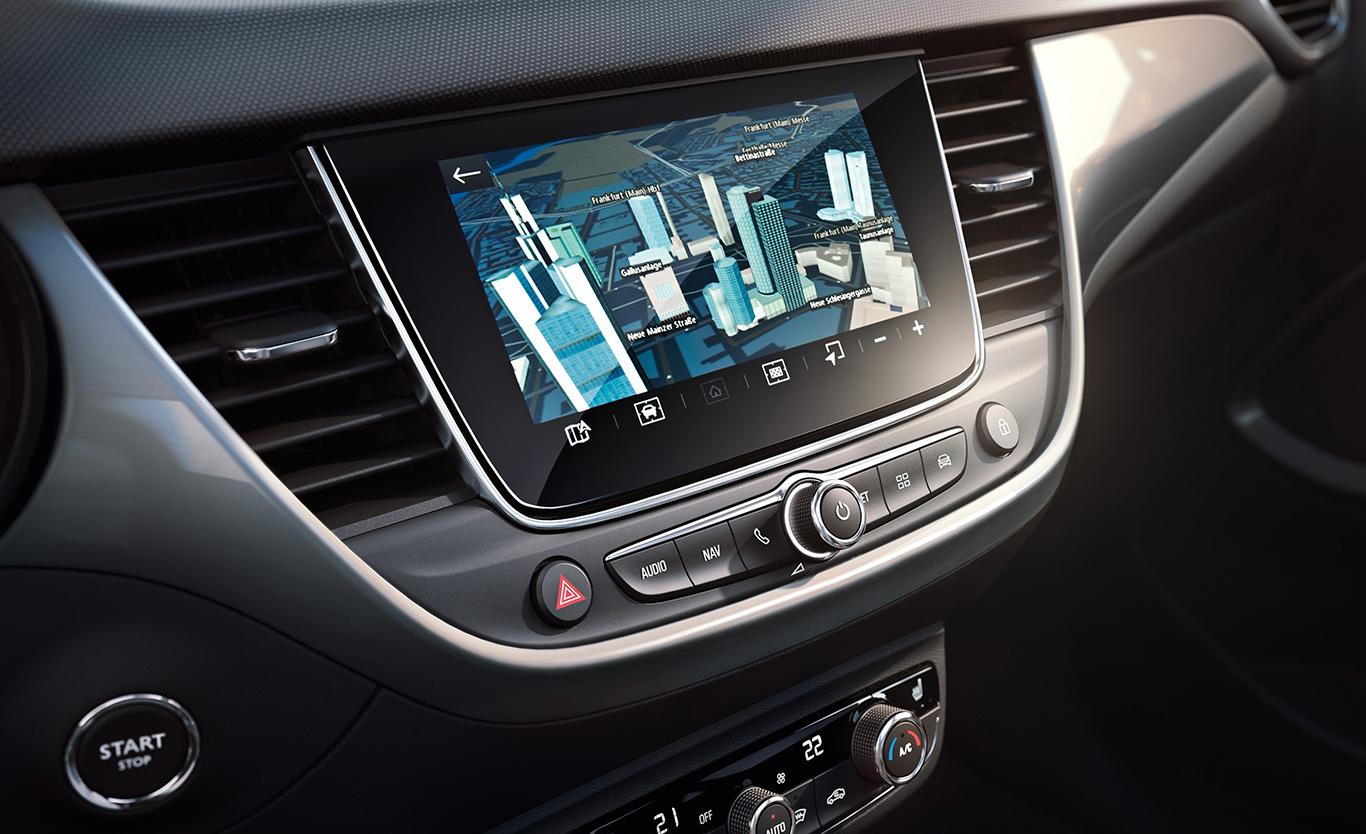 Bringt das SUV auf Touren: Das Opel Crossland-X-Navi 5.0 IntelliLink.