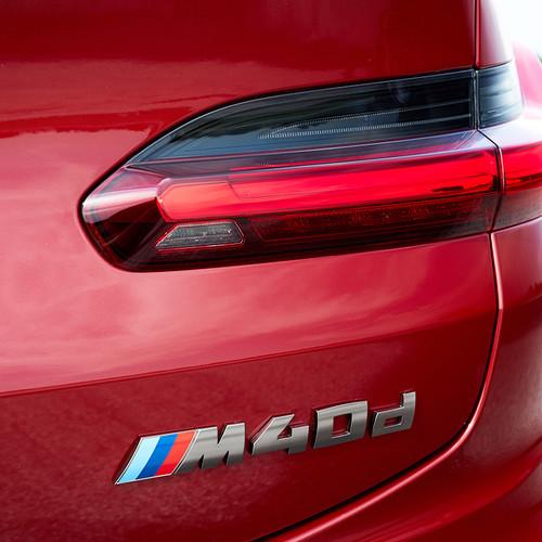 BMW X4 2018, M40d, Logo, Heck