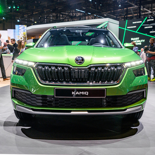 Skoda Kamiq, SUV, Frontansicht, grün
