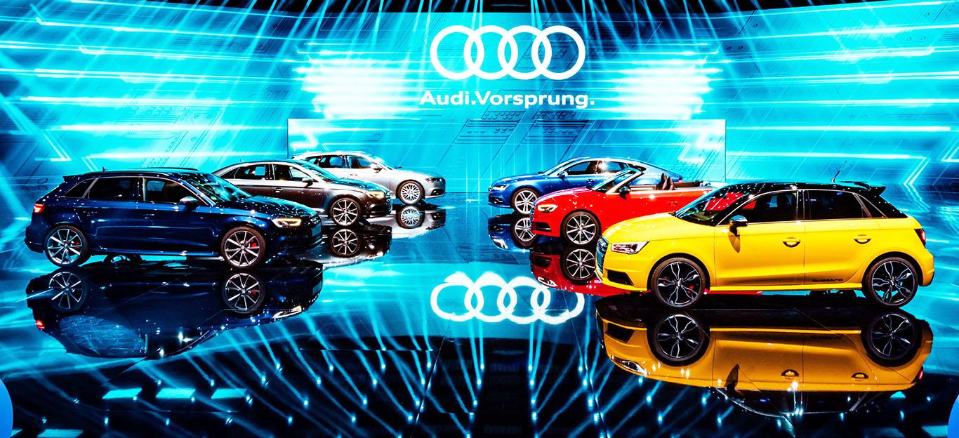 Audi Anschlussgarantie Modelle Messebühne