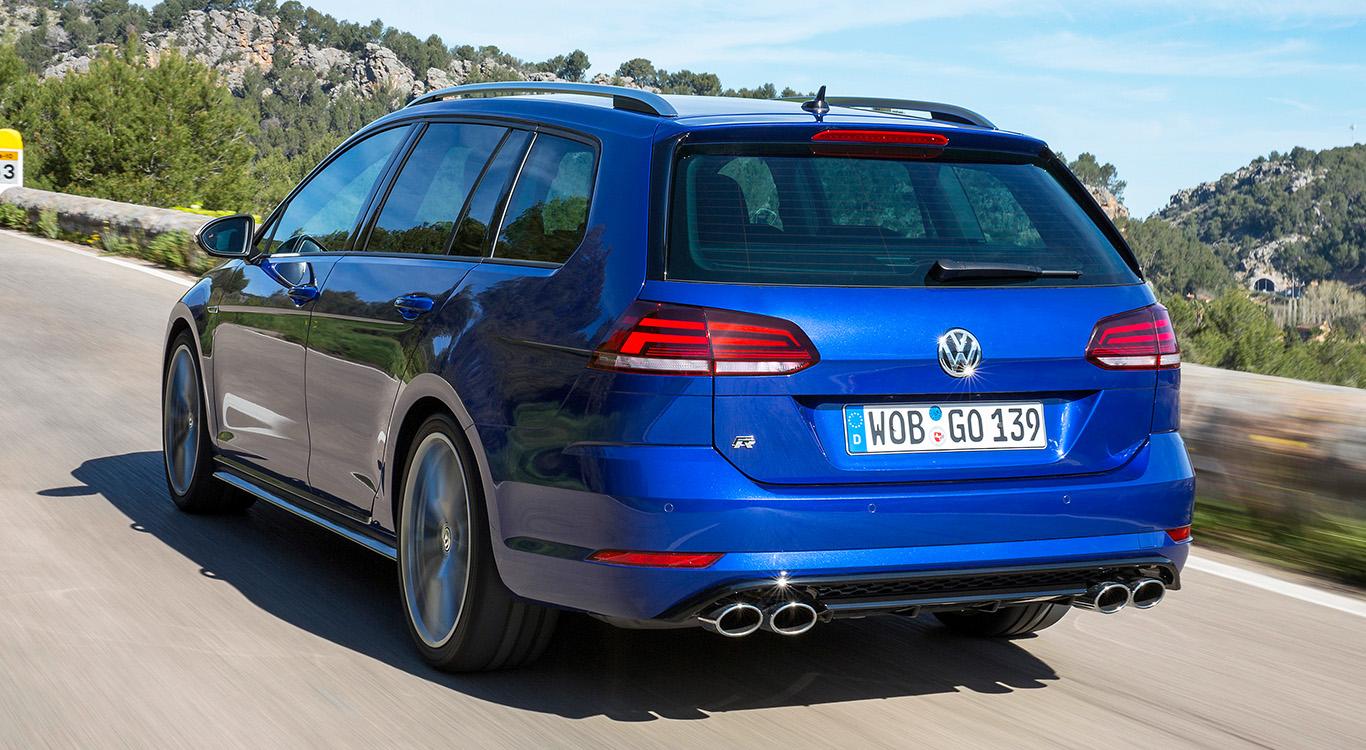 Sportlicher Feger, egal ob bei der Fließheck-Variante oder dem Kombi: der VW Golf R.