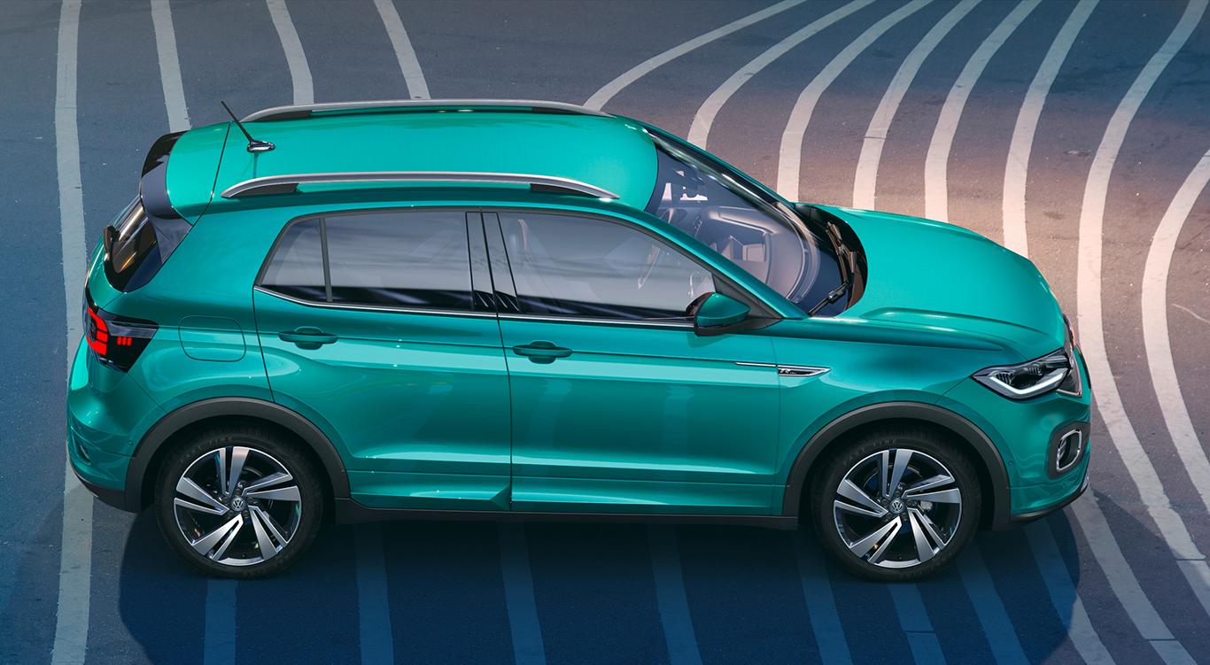 Neues VW-SUV in der Seitenansicht: der T-Cross 2019.