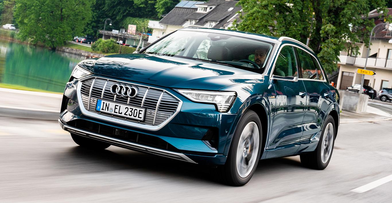Nicht nur nobel im Preis, sondern auch bärenstark: Das Audi Elektro-SUV e-tron mit 408 PS.
