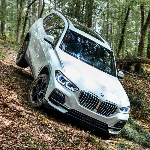 BMW X5 2019, G05, weiß, Frontansicht