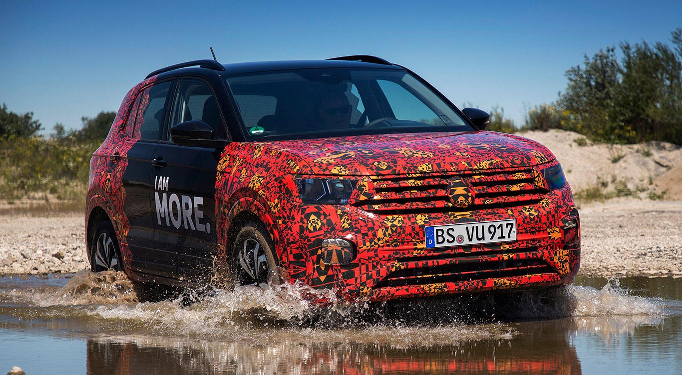 """Oder räumt er ab 2019 das Feld von hinten auf? Der neue VW T-Cross kommt einem """"echten"""" SUV-Golf schon recht nahe."""