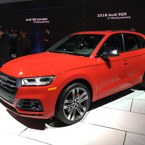 Seitenansicht des Audi SQ5
