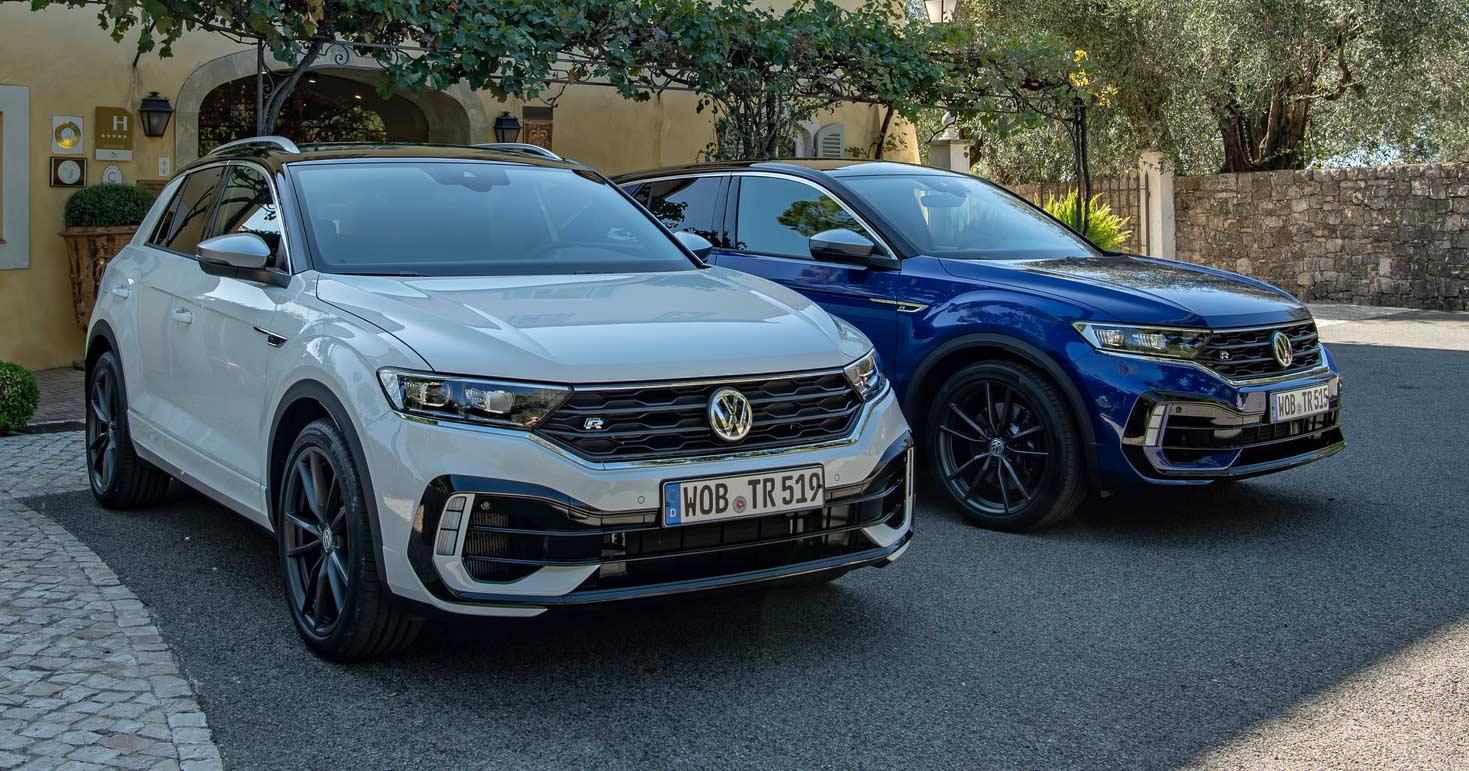 """Der VW T-Roc R: Die Spezialfassung des """"Golf-SUV"""" sieht nicht nur gut aus, sondern kommt auch mit 300 PS. Neu startete im Jahr 2020 die Cabrio-Ausgabe des T-Roc."""