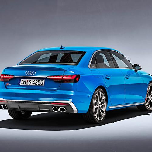 Audi S4, Facelift 2019, Heckansicht, blau
